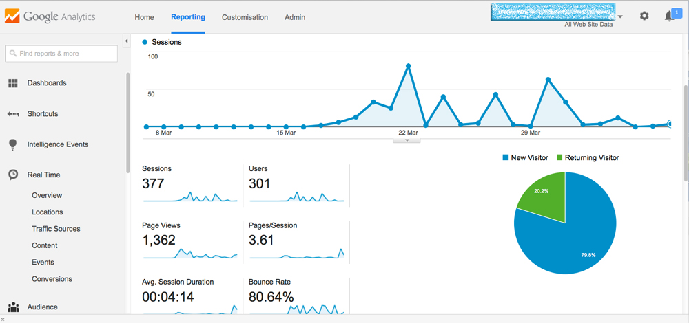 image of google-analytics screen